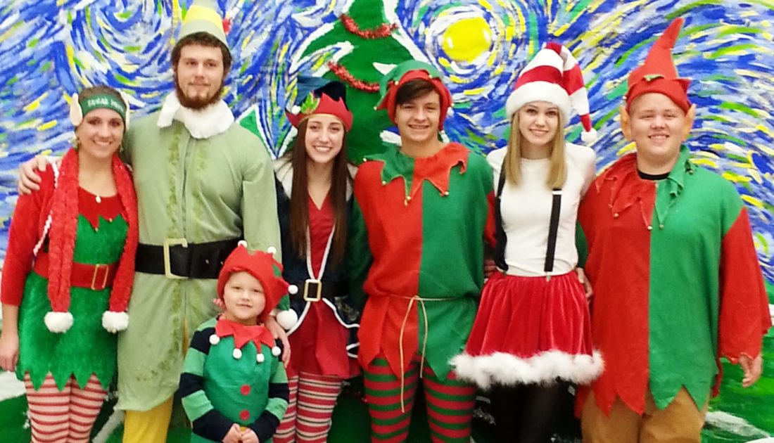 "The Beaver Local High School Class of 2017 is sponsoring a Pancake ""Breakfast with Santa"" 9-11 a.m. Saturday in the cafeteria. Tickets available at the door. Cost is $5 for adults and $3 for ages 12-under. Santa's elves will be on hand to help children mix reindeer food to take home, color pictures and write ""thank you notes and/or letters to Santa."" A photographer available to take photos with Santa for $5. Pictured (from left) are Santa's helpers Connor McCoy, Drew McCoy, Paxton Gabbert, Kenzie Delposen, Reid Tice, Lindsey Sutton, and Alex Gabbert. (Submitted photo)"