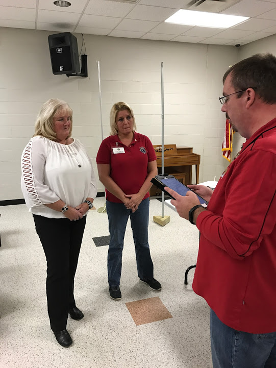 The Calcutta Lions Club welcomed a new member to their first meeting of 2017 at the Peter Metrovich Community Center. Zone 11 Chairman and Calcutta Lion member Joe Hall inducted Lion Rhonda Sullivan, sponsored by Lion Beverly Smith.  Anyone interested in becoming a member of the Calcutta Lions Club  is invited to attend a meeting. Meetings are held every 2nd and 4th Tuesday of the month at the Peter Metrovich Community Center that is adjacent to the St. Clair Township Police Department at 6:30 p.m. (Submitted photo)