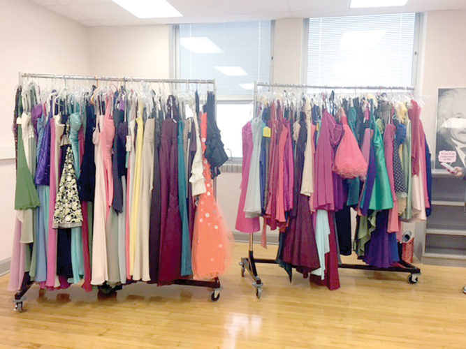 A Salem retail clothing store that has gone out of business donated the last of its apparel to area schools this week. East Palestine received more than 150 dresses to add to its Eppy's Attic boutique for students. (Submitted photo)