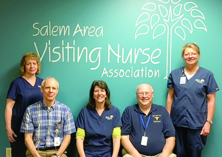 Pictured is the therapy staff of the Salem Area Visiting Nurse Association. Together the staff represents nearly 110 years of experience in their fields. (Submitted photo)