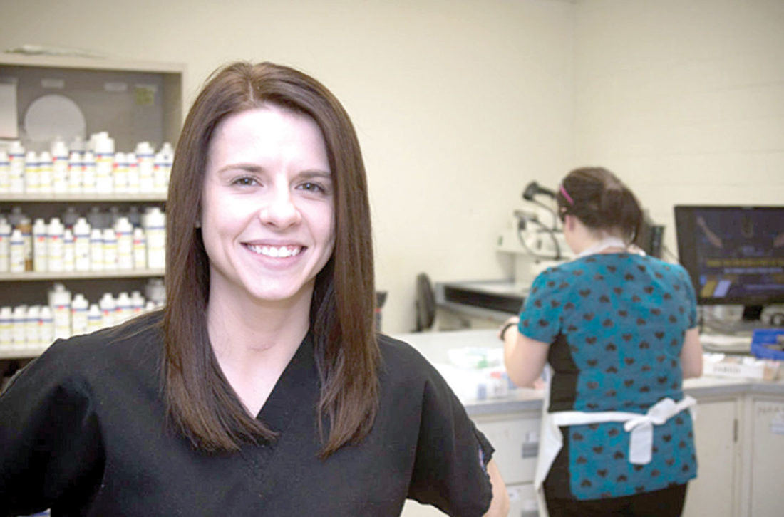 Ready to conquer the workplace after graduation, Chelsea Bragg recently accepted a job as a histotechnologist at WVU Medicine's Ruby Memorial Hospital in Morgantown. (Submitted photo)
