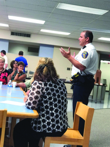 East Liverpool Police Chief John Lane offered information about the new traffic cam system to members of the Southern Columbiana County Regional Chamber of Commerce at their Sunrise Breakfast Thursday at Kent State University-East Liverpool. (Photo by Jo Ann Bobby-Gilbert)