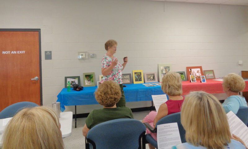 Expert photographer, Sue Bennett was the guest speaker at the Calcutta Area Garden Club meeting on June 23. (Submitted photo)