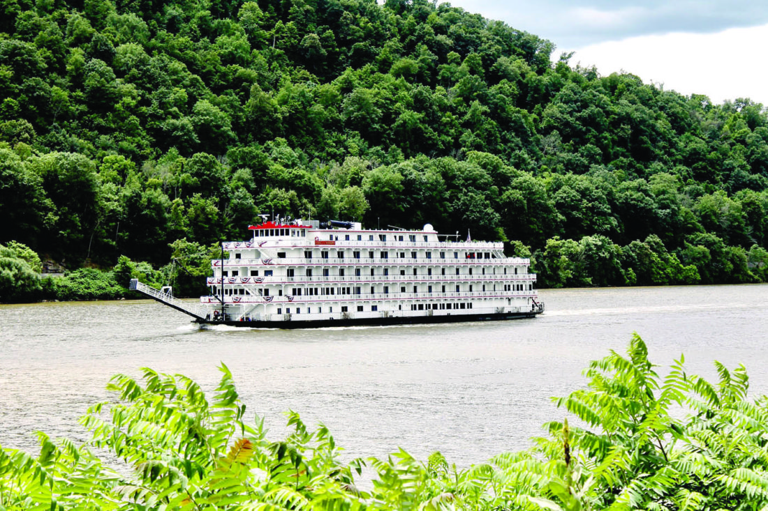 The Queen of the Mississippi made its way through local waters Tuesday as it journeyed to Pittsburgh. Built in 2015, the Queen — among the American Cruise Lines fleet — has five decks with enough staterooms to accommodate 150 guests. It is expected to depart today from Pittsburgh for an 11-day excursion to St. Louis, Missouri — the first of three such trips between the two cities, so there's a good chance you'll see the paddlewheel along the Ohio River again this summer. (Photo courtesy of Pam Smith)