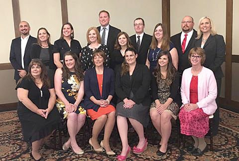 Pictured is the Leadership Columbiana County Class of 2017 in addition to LCC Director Amanda Frost and Paul Mitchell representing Congressman Bill Johnson. (Submitted photo)