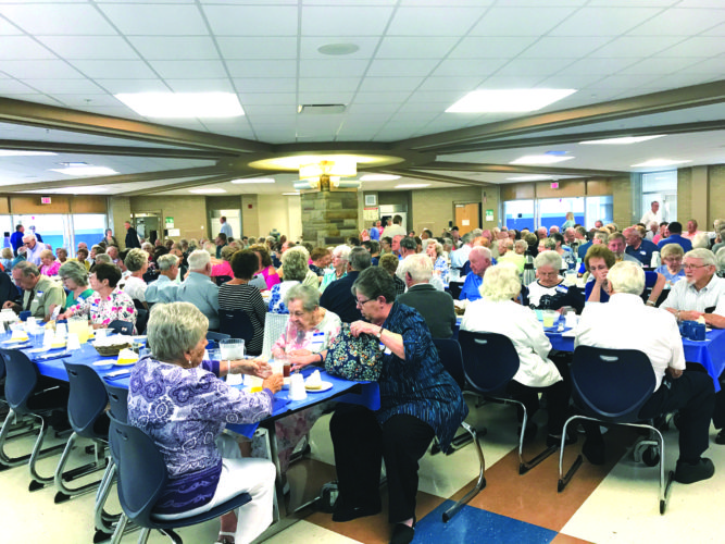 A large turnout from the classes of 1933 through 1956 attended this year's Olde Guard Luncheon at the East Liverpool Junior-Senior High School. (Photo by Jo Ann Bobby-Gilbert)
