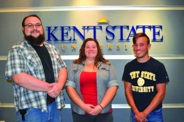 Kent State University at East Liverpool announces the Undergraduate Student Government officers for the 2017-18 academic year. Andrew R. Prekup Jr., a senior psychology major, is president; Mitchell Reiner, a sophomore marketing major, is vice president; and Kyla Coss, a senior psychology major, is secretary/treasurer. The Kent State East Liverpool USG meets each week in the Dean's Conference Room in Purinton Hall. Students are invited to attend meetings to share ideas or concerns, as well as participate in community service and campus projects. Pictured are Kent State East Liverpool officers for the Undergraduate Student Government organization (from left): Andrew Prekup, Kyla Coss and Mitchell Reiner. (Submitted photo)