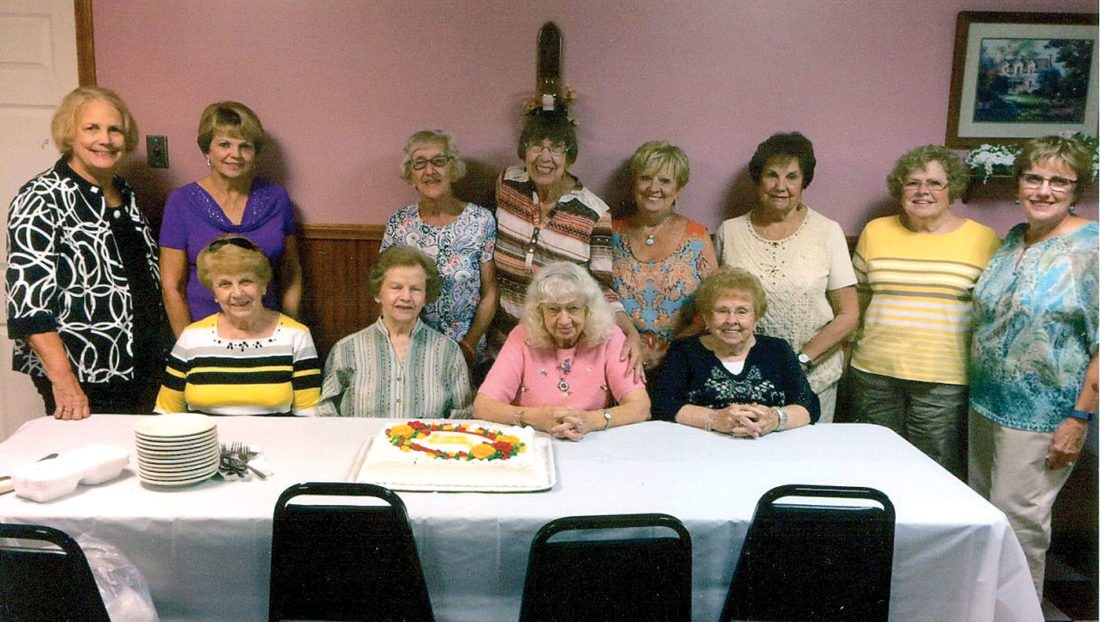 Pictured front (from left): Sue Boston, Velma Jackson, Jean Hanlon, Wanda Hood; back, Kitty Binkowski, Joanne Lange, Vivian Richmond, Donna Stevens, Willie Balt, Mary Ann Wright, Polly Mackall, Bev Stevens. (Submitted photo)