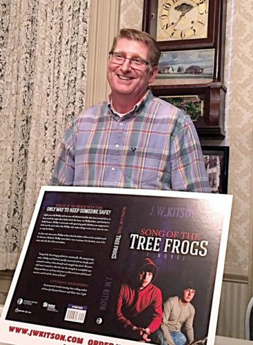 "John Smith of East Liverpool discussed his novel ""Song of the Tree Frogs"" at the recent meeting of the Wellsville Historical Society. (Submitted photo)"