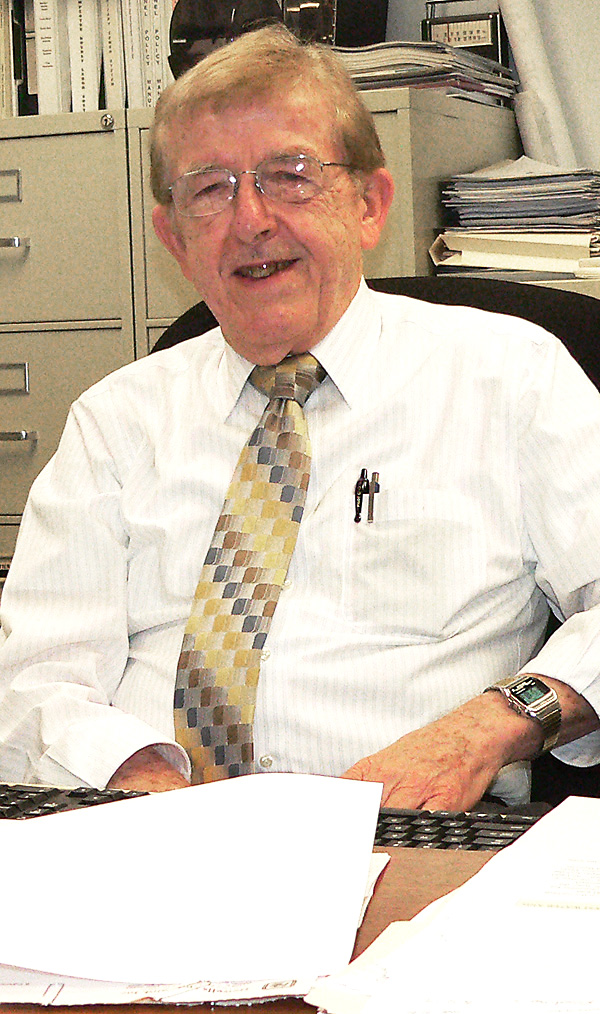 Salem City Utilities Superintendent Don Weingart quietly celebrates his 65th year as a member of the department. The 82-year-old city resident started his career as a laborer straight out of high school and shows no signs of slowing down. (Salem News photo by Mary Ann Greier)