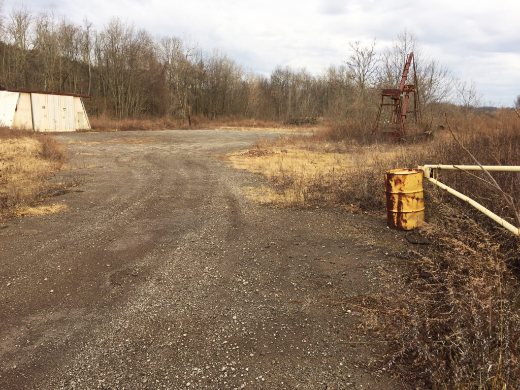 This image shows the area behind the Leetonia Beehive Coke Ovens before completion of the new Community Nature Park, which will serve as a new trailhead for the Green Way Bike Trail. (Submitted photo)