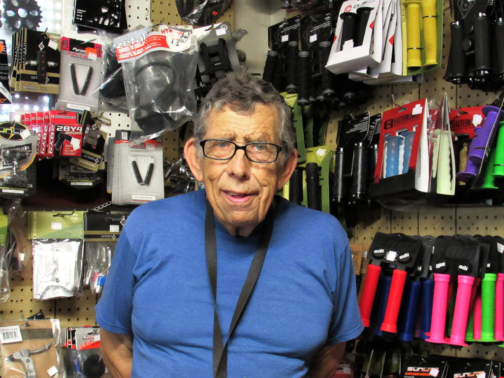 For 30 years, Henry Simmons has been selling and repairing bikes at his B&B Bike Shop in Alliance. He's known all over the area to bike riders for honest sales and quality service. His storefront shop is located at 2030 Cherry Ave., where the sign features the latest model on sale. A 1960 graduate of Alliance High School, Simmons noted that customers can special order a bike online and have it delivered to B&B Bike Shop where it can be assembled. (Salem News photo by Larry Shields)