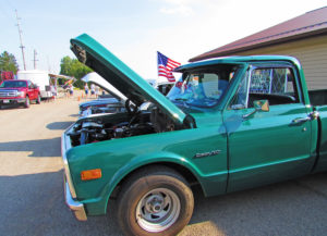 This 1972 Custom 10 Chevrolet pickup owned by Arless Dinger of Poland was on display at the Social 45 Tuesday car cruise on state Route 45 north of Lisbon Tuesday. The weekly cruises are organized by the Cruisin' Crew of Salem. (Salem News photo by Larry Shields)