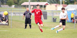 COLUMBIANA — Salem's boys soccer team got two goals from Logan Murphy in a 2-0 win over Crestview on Thursday.  One of Murphy's goals came on a penalty kick.  Salem (3-2-2) is at Alliance on Tuesday.   South Range 4,  West Branch 1 BELOIT — Zach Schick, Reese Babuder and Mitch McConnell scored goals in leading South Range past West Branch, 4-1, in boys soccer action Thursday. Brandon Youngs contributed two assists for the Raiders, whose other score came on an own goal. Carson Gossett collected the Warriors' goal off an assist from Ian Yarwood. Jared Butler made eight saves in goal.  Hubbard 0, Salem 0 HUBBARD —Salem's girls soccer team saw its winning streak to start the season come to the end with a scoreless draw against Hubbard on Thursday night.  Bailee Thorn had three saves in goal and Salem played well on defense to earn the draw. Salem is 7-0-1.  The Quakers are at Alliance on Wednesday.  Hubbard won teh jayvee game 2-1. Libby Ripley had a goal for Salem.   Beaver Local 9, I ndian Creek 0 WINTERSVILLE — Beaver Local earned its second boys soccer win of the season with a 9-0 win over Indian Creek on Thursday.  For Beaver (2-3-2), Drew Theiss had four goals. Josh Speelman had two goals and an assist. Braxton Wright, Phillip Campbell and Alex Miller had goals as well. Shane Wright had two assists. Owen Dwyer and Miller had assists.  Austin McCoy had six saves in goal.