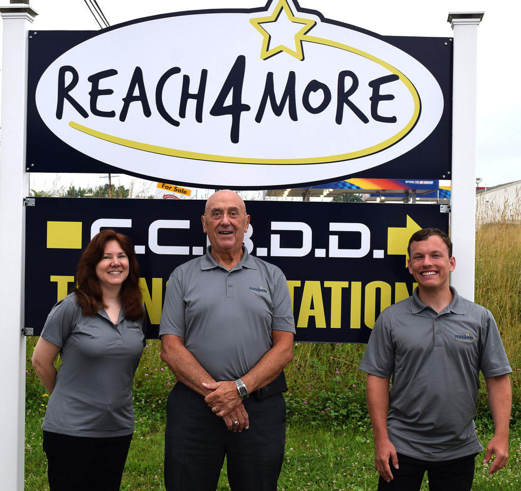 Reach 4 More has opened a new office at 7716 state Route 45 in Lisbon. Pictured are the staff, from left, Shirley Bowald, Paul Anthony and Michael Reiner, who match employers with developmentally disabled individuals who want to work. (Submitted photo)