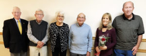 United Commercial Travelers Salem Council #590 held its annual grand counselor's and ladies night dinner on Nov. 4 at the Salem Saxon Club. Pictured are, from left, Tom Smith, Gary Moffett, Wilma Moffett, Leland Vancamp, Linda Muckelroy and Bill Muckleroy. (Submitted photo)