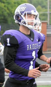 Max Righetti #83 6-0, 180 sophomore kicker Member of Mount Union's 58-man playoff roster ... Handles kickoff duties for the Purple Raiders ... Averaging 60.6 yards on 35 kickoffs with seven touchbacks this season ... Has kicked off 19 times in four playoff games, including off all eight times in a 43-40 semifinal win at Wisconsin-Oshkosh ... 2016 graduate of Salem High School.