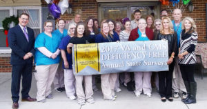 Staff members at Essex of Salem I Skilled Nursing Facility celebrate a Deficiency Free VA Survey. (Submitted photo)
