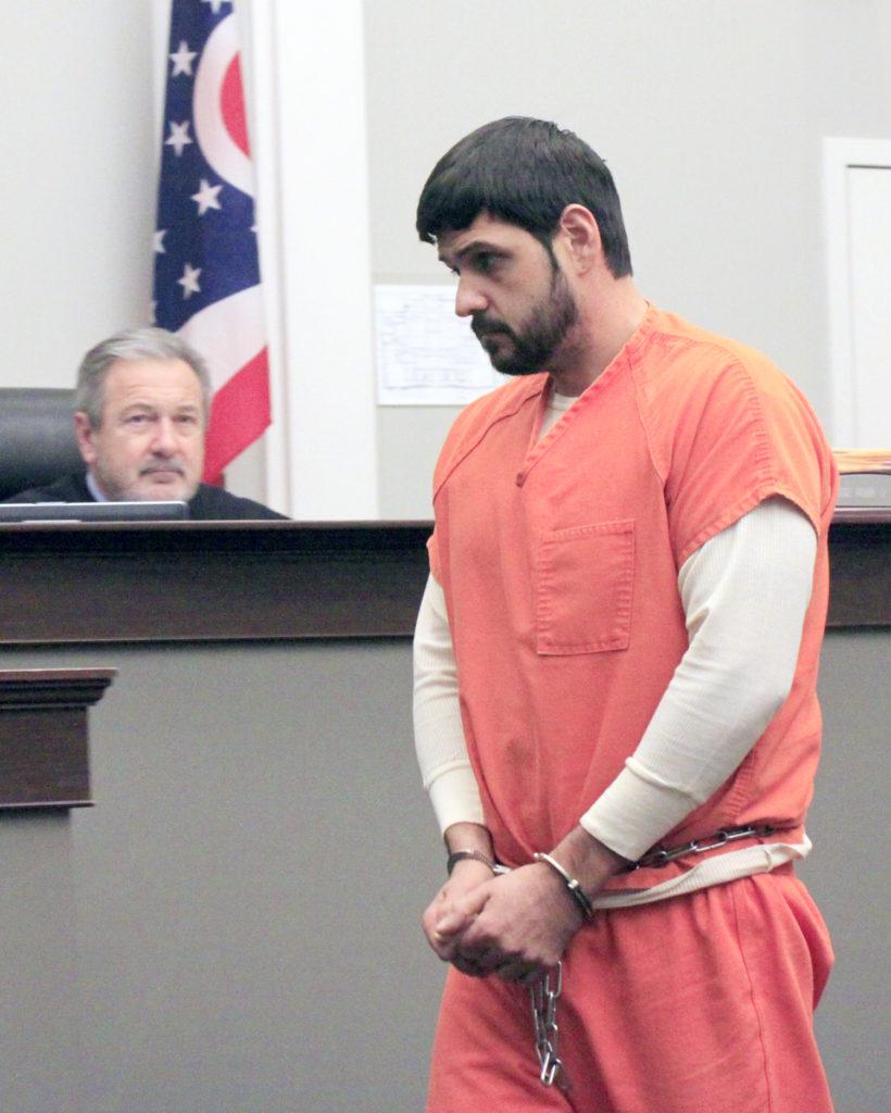 Chandler Trosky enters the courtroom of Judge Mark Frost. (Salem News photo by Deanne Johnson)