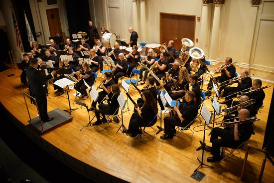 PHOTO PROVIDED The Northern Appalachian Wind Symphony, which recently wrapped up its inaugural season, performs at Pennsylvania College of Technology.