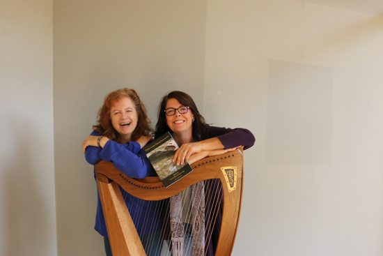 "PHOTO PROVIDED Cheryl Hein Walters (left) will play the harp and Lilace Mellin Guignard will read her original poems from her chapbook ""Young at the Time of Letting Go,"" at a poetry and harp event at 7:30 p.m. Friday at the Gmeiner Art and Cultural Center, 134 Main St., Wellsboro."