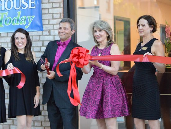 KATELYN HIBBARD/Sun-Gazette BNG Aesthetics held a ribbon-cutting ceremony to celebrate the unveiling of its new office, located at 24 W. Fourth St., Thursday afternoon. Owners Dr. Boris and Natalie Gabinskiy, center, cut the ribbon.