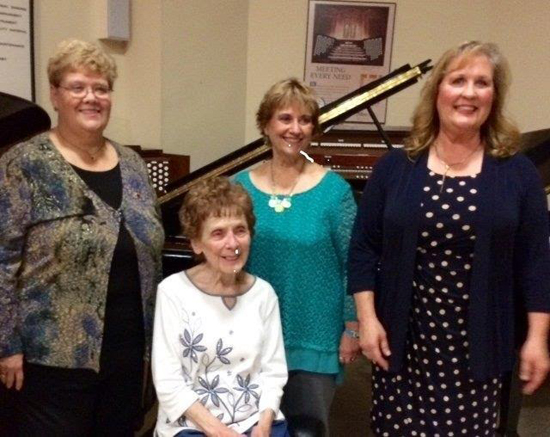 "PHOTO PROVIDED Williamsport Music Club will present ""Star Spangled Folksong Rhythms"" 7 p.m. Tuesday at Robert M. Sides Music Center, 291 Mulberry St. Pictured from left to right are Leatha Kieser, JoAnne Girton, Bonnie Seltzer and Kristin Ivers."