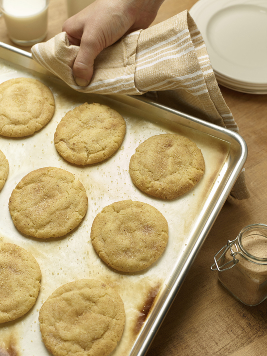This October 2015 photo provided by the Culinary Institute of America shows Snickerdoodle cookies in Hyde Park, N.Y. The sugar cookies is rolled in cinnamon-sugar before being baked. (Phil Mansfield/Culinary Institute of America via AP)