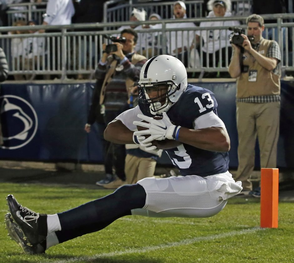 Saeed Blacknall and Penn State can reach the Big Ten title game with a win and help.