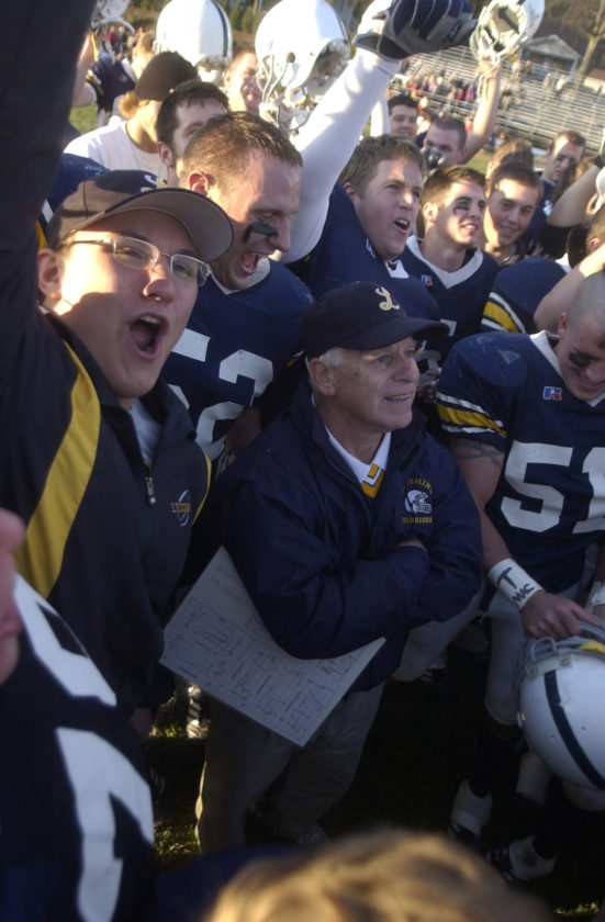 Frank Girardi's induction into the College Football Hall of Fame was voted as the Sun-Gazette's top sports story of 2016 by Sun-Gazette staff. Guy Cipriano covered his 250th win in 2005 over Susquehanna, above, for the Sun-Gazette. Girardi will be recognized with the Class of 2016 during a halftime ceremony Saturday in the Peach Bowl in Atlanta.