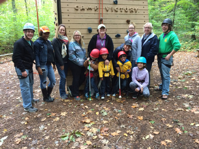 PHOTO PROVIDED North Central Sight Services held its first Camp Vision on Sept. 30, 2016, at Camp Victory, a special camp for special kids, in Millville. NCSS is celebrating its 60th anniversary with the series of events this year.