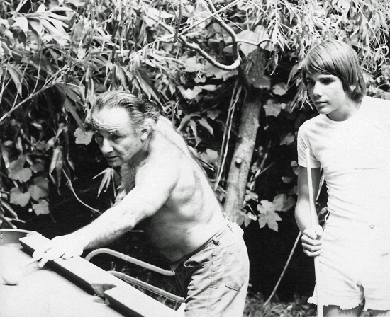 "Sascha Feinstein, right, and his father, who inspired the book ""Wreckage: My Father's Legacy of Art & Jink."" Feinstein, an accomplished author, ranging from poetry to jazz criticism, found inspiration in his father from a young age."