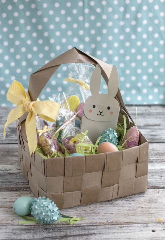 5 ways to get creative with easter baskets news sports jobs this undated photo shows an upcycled diy easter basket made from four brown paper grocery bags negle Choice Image