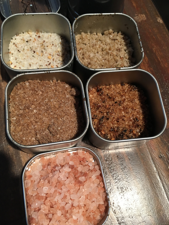 PHOTO PROVIDED Shown are a several different varieties of salt used for cooking.