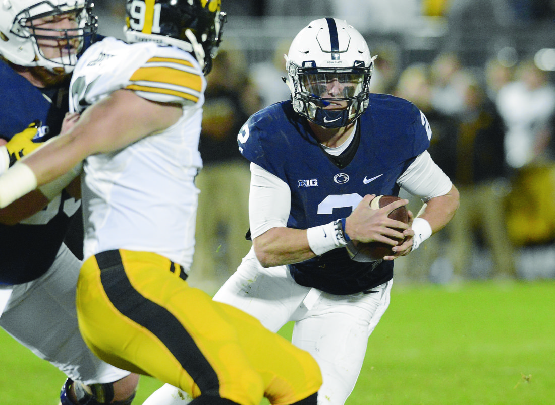 PATRICK WAKSMUNSKI/For The Sun-Gazette Tommy Stevens figures to get plenty of action during Saturday's Blue-White spring game at Penn State.