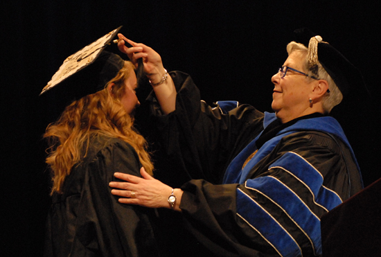 College celebrates graduation with technology
