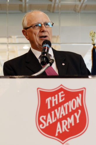 KATELYN HIBBARD/Sun-Gazette Dan Watson, a Salvation Army volunteer of over 40 years, explains that it's the excitement he gets from all the people the organization has helped over the years that keeps him going.