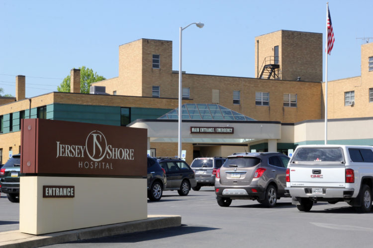 KAREN VIBERT-KENNEDY/Sun-Gazette Jersey Shore Hospital at 1020 Thompson Street in Jersey Shore on Wednesday morning.