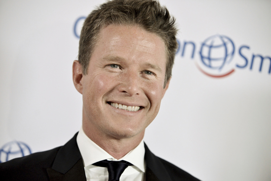 FILE - In this Sept. 19, 2014 file photo, Billy Bush arrives at the Operation Smile's 2014 Smile Gala in Beverly Hills, Calif.  Bush, who was fired after an old video emerged of him engaging in offensive sex talk with then ÒApprenticeÓ host Donald Trump, says heÕs a better man now and ready to get back into television. In an interview posted Sunday, May 21, 2017, Bush told The Hollywood Reporter the past seven months have Òbeen a roller coasterÓ beginning with saying sorry to his three daughters.  (Photo by Richard Shotwell/Invision/AP, File)