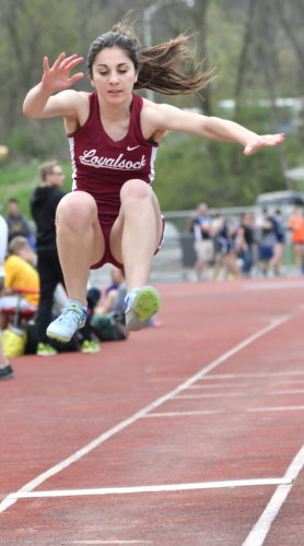 MARK NANCE/Sun-Gazette Charlotte Neylon of Loyalsock is off to the PIAAs in the 100 and 200.