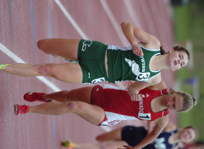 Lewisburg's Emma Bailey, left, will look to help the Green Dragons' 3,200 and 1,600 relay teams attempt to medal at the state meet this weekend in Shippensburg. Bailey won the 1,600 at districts, but scratched to focus on the relay teams. (MARK NANCE/Sun-Gazette)