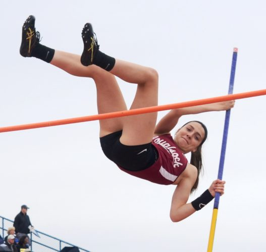 BRIAN FEES/For The Sun-Gazette Hailey Zurich of Loyalsock clears the pole vault Saturday.
