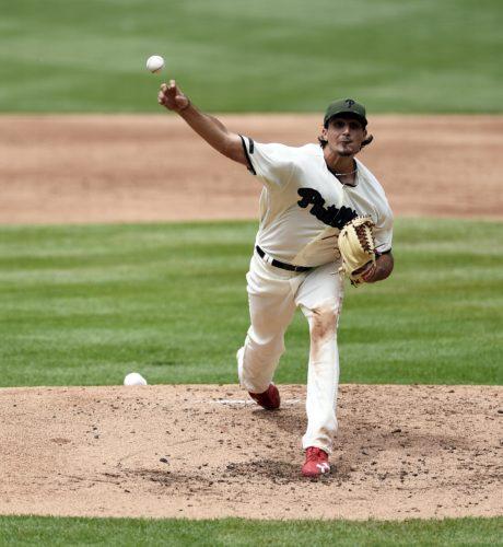 Philadelphia Phillies starting pitcher Zach Eflin throws during the fourth inning against the Cincinnati Reds on Sunday in Philadelphia. (AP)