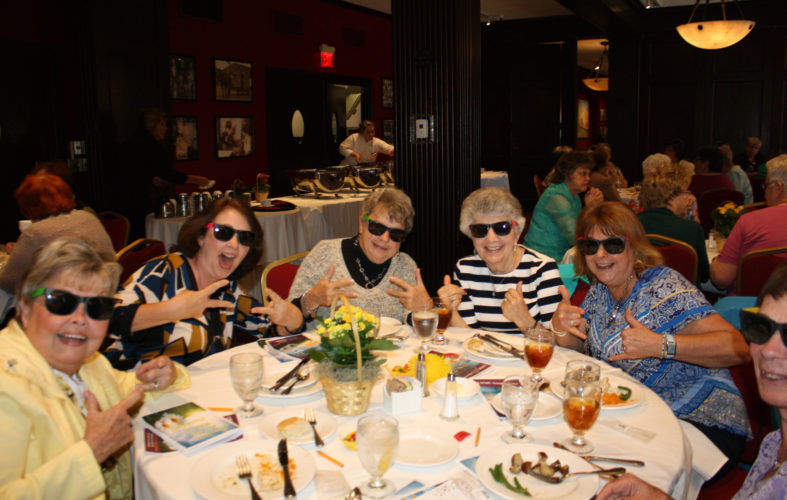 "PHOTO SUBMITTED Community volunteers try on their shades while enjoying their ""rays of sunshine"" volunteer luncheon, gifts and entertainment at Penn Wells Hotel in Wellsboro."