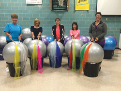PHOTO PROVIDED From left, are Diana Logan, Drums Master Trainer and Instructor at the Eastern Lycoming YMCA, Carrie Ekins, Creator of Drums Alive, Amber Logan, Diana's daughter who has a diverse ability, Karen Watanabe-Aakamoto, COO of Drums Alive, and Erica Logan, Lifeskills teacher for the Intermediate Unit 17.