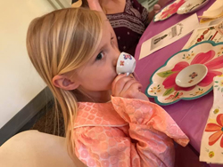 PHOTOS PROVIDED The Lycoming chapter of the Daughters of the American Revolution recently hosted an American Girl doll-themed tea. Shown are a few of the attendees at the tea.