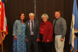 PHOTO PROVIDED Robert Webster recently received the Daughters of the American Revolution's Historic Preservation Medal. From left, are Dr. Amy Rogers, Webster, Carol Shetler and Brian Machmer.