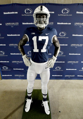 ASSOCIATED PRESS Penn State's one-game throwback uniforms will include gray facemasks and white shoes.