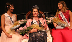 photo provided The 2017 Pennsylvania State Laurel Queen is Miss Williamson Abbey Carleton, center. Second runner-up is Miss Athens Sarah Montrose, left, and first runner-up and Miss Congeniality is Miss Montoursville Caroline Hernandez, right.