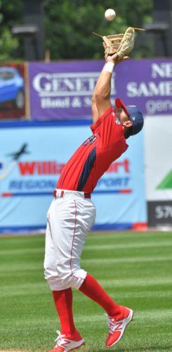 MARK NANCE/Sun-Gazette Cutters second baseman Jake Scheiner catches a pop fly Tuesday afternoon at Bowman Field.